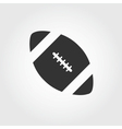 American football icon flat design vector