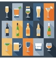Drink icons flat vector