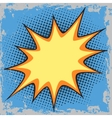 Bubble for text in the comic pop art retro style vector