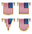 Usa hanging decorations vector