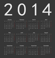 Simple black calendar 2014 vector