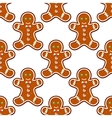Ginger cookies seamless pattern background vector