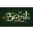 Chalked word brazil vector