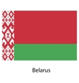 Flag of the country belarus vector