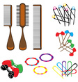 Hair combs and accessories vector