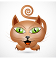 Abstract brown cat vector