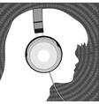 Man in headphones vector