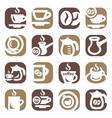 Color coffee icin set vector