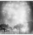 Abstract background with grass and silhouettes of vector