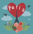 Romantic design with eiffel tower in paris vector