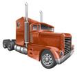 Brown truck vector