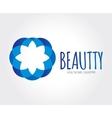 Abstract flower logo template for branding vector