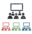 Audience grunge icon set vector