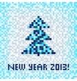 Christmas winter pixel art seamless pattern vector