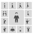 Business man activities icons vector