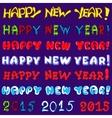 Inscription set - happy new year vector