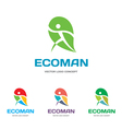 Ecoman - logo sign concept vector
