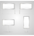 Set of blank city light vector