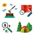 Hiking equipment vector