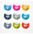 Discount stickers labels vector