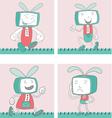 Cartoon characters tvtoon 1 vector