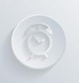 Circle icon with a shadow alarm clock vector