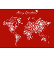 Christmas globe map concept vector