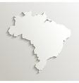 Paper map of brazil vector