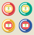 Round download and upload bar vector
