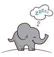 Elephant sleeping vector
