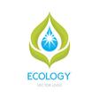 Ecology concept - logo vector