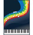 Music like a rainbow vector