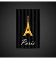 Elegant of black card with golden foil eiffe vector