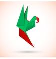 Parrot origami vector