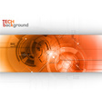 Tech background line red center vector