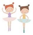 Two cute ballerinas vector