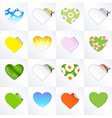 Hearts in different kinds vector