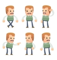 Universal characters in different poses genius vector