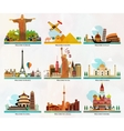 Travel and tourism locations vector
