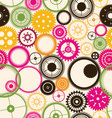 Gear seamless background retro color vector