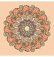 Retro ornamental round lace pattern vector