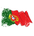 Portugal flag grunge vector