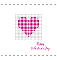 Postcard heart with pink circles vector