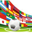 Football flag vector