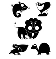 Art animal silhouettes vector