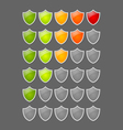 Rating shields vector
