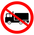 No cargo car road sign vector