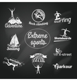Extreme sports icon chalkboard vector