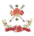 Floral festive designs vector