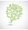 Big speech bubble made from eco icons vector
